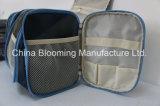 Sacchetto d'attaccatura dell'articolo da toeletta di corsa del blu marino dell'organizzatore cosmetico su ordinazione impermeabile del kit