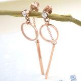 fashion Jewelry 최고 대중적인 숙녀의 스테인리스 다이아몬드 긴 귀걸이