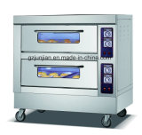 Cocina eléctrica del horno de las Dos-Bandejas de la Doble-Capa con construido en panadería