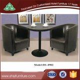 Деревянный кофейный столик с другой стиль и материал для отдыха с диваном