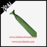 Clipe de tecido poliéster de nó perfeito em gravatas escolares para meninos
