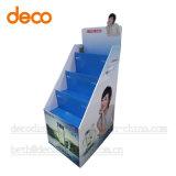 Affichage Cosmestic papier carton Présentoir de sol pour la vente au détail
