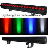 Luz de la colada del pixel de la etapa DMX de la lavadora 4WD de la barra RGBW LED de la luz de la colada de la pared del LED 18PCS
