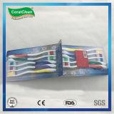 Toothbrush economico dell'adulto libero del pacchetto 1+1 della famiglia 10PC
