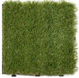 Mattonelle di pavimento di plastica dell'erba della protezione permeabile per il campo ed il balcone di sport