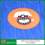 Escritura de la etiqueta caliente del traspaso térmico de la venta de Qingyi para la camiseta