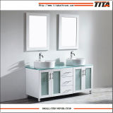 白いラッカーガラス虚栄心の上の浴室の虚栄心T9140-36wl
