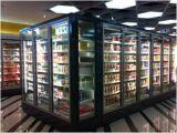 Congelador vertical del escaparate hecho en China