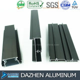 Profil d'extrusion de l'aluminium 6063 de cadre de porte de guichet avec le modèle personnalisé