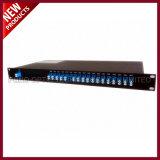 16 Optik-DWDM CWDM Demux Rasterfeld der Kanalabstand-Doppelfaser-für Kommunikation