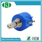 Wxd3590 10-Turn Wirewound Potenziometer 2k 5k 10k mit Vorwahlknopf-Drehknopf