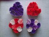 De Bloemen van de zeep in Ronde Gift die voor Bevordering wordt geplaatst