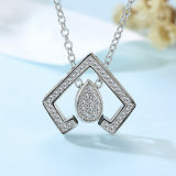 2017 New Brass Sunshine AAA Cubic Zirconia Pendant Necklace