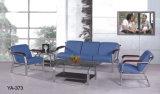 Migliore sofà di cuoio moderno comodo blu poco costoso popolare di ricezione dello strato dell'ufficio