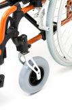 Aluminio ligero, plegable y silla de ruedas manual (AL-002)