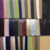 Couro sintético do plutônio da vária patente do alinhador longitudinal para sacos, sapatas, decoração, (HS-Y42)
