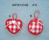 Tela Snowflake-2assorted del ornamento de la decoración del árbol de navidad