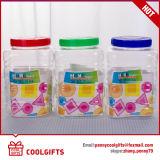 vaso largo della caramella della bocca dell'animale domestico di plastica 3700ml, vaso cosmetico con il coperchio dei pp