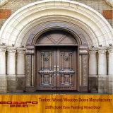 Side Lite Porta de entrada de vidro Exterior Porta de madeira de vidro arqueado (XS2-036)