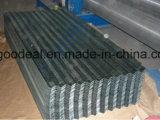 Galvanizado cubriendo el cinc de la hoja, cubrir con cinc la hoja de acero acanalada del material para techos