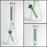 """Becher Shisha des Hfy Glas-17 """" starker Illadelph grüner der Höhen-7mm starkes Wasser-Rohr-rauchendes Glasrohr"""
