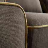 ホテルのベッド部屋の家具Fb1148のためのフランネルの高品質ファブリックが付いている現代デザイン部門別のソファー