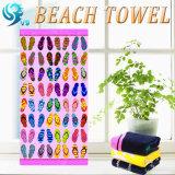 昇進のベロアによって印刷されるビーチタオル
