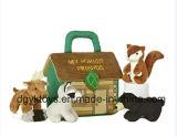 Brinquedos encantadores de vida do animal do luxuoso da casa encantadora