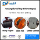 Electromagneto de elevação de forma retangular para elevação de bobina de haste de arame MW19