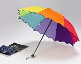 최신 판매 접히는 무지개 우산
