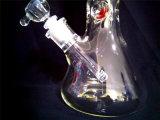 Pipe de fumage en verre de l'eau du recycleur AA055 droit