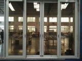Portello di vetro di scivolamento di alluminio di vendita della fabbrica con la rete/maglia dell'acciaio inossidabile
