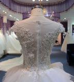 Robe de mariage neuve de circuit de l'arrivée 2017 avec l'encolure d'illusion