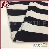 Preto e branco padrão de distribuição 100% tecido sarjado viscose