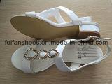 女性は作るハイヒールの靴に屋外の夏のサンダル(FFSD-03)を
