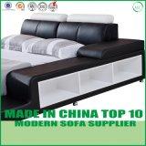 Base de cuero suave moderna del estilo para el dormitorio