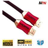 Qualità di qualità superiore 1.4/2160p, 6 piedi di HDMI di Assemblea di cavo per 4k TV, giocatore del Blu-Raggio 3D, proiettore
