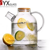 кувшин холодной воды боросиликата высокого качества 1.8L/теплостойкmNs ясный стеклянный кувшин воды/стеклянный кувшин бака питчера холодной воды с Bamboo крышкой