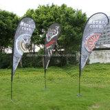 Pôle de fibre de verre personnalisé Teardrop Beach Feather battant pavillons (SU-FG15)