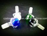 Tazones de fuente secos de cristal masculinos de la hierba de la junta 14.4m m para fumar