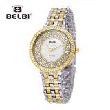 Horloge van het Kwarts van de Legering van het Horloge van de Diamant van de Luxe van de Manier van Belbi het Toevallige Waterdichte
