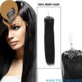 バージンのRemyの人間のマイクロリングのループ毛の拡張(タイタンの毛357)