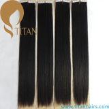 Estensione nera naturale non trattata dei capelli del nastro 24inch