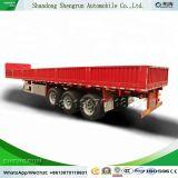 La paroi latérale 40FT semi-remorque Mini lit plat Joint Cargo remorque de camion à benne