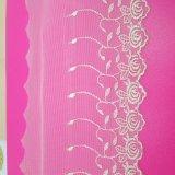 Merletto di nylon di immaginazione della guarnizione del ricamo del poliestere del merletto del commercio all'ingrosso 14cm della fabbrica del ricamo di riserva di larghezza per l'accessorio degli indumenti & tessuto & tende di tessile domestici