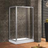 Profil-ausgeglichenes Glas-rechteckige Dusche-Schiebetür-Gehäuse-Kabine des Al-6463