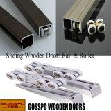 Moderner Entwurfs-festes Holz-Glasschiebetür (GSP3-016)
