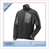 남자 방수 보세품 직물을%s 가진 옥외 착용 Softshell 재킷