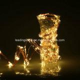アダプターによって作動させるLEDの妖精の滝は暖かい白Xmas党結婚式をつける