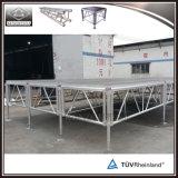 Plate-forme en aluminium mobile stable d'étape d'événement de TUV à vendre